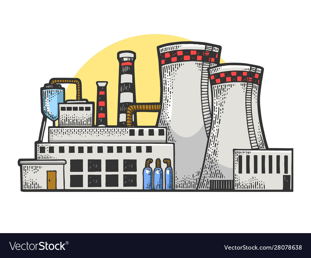Nuclear power plant sketch