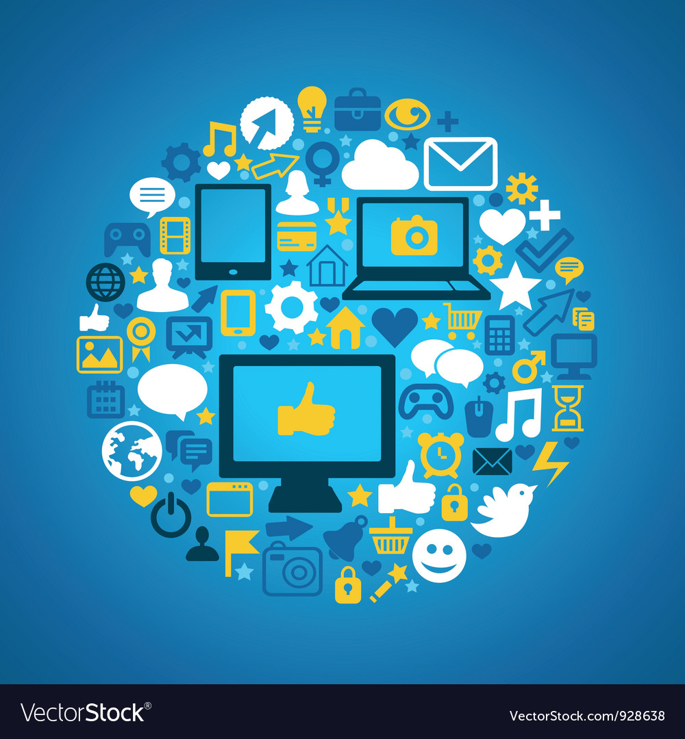 Round social media concept