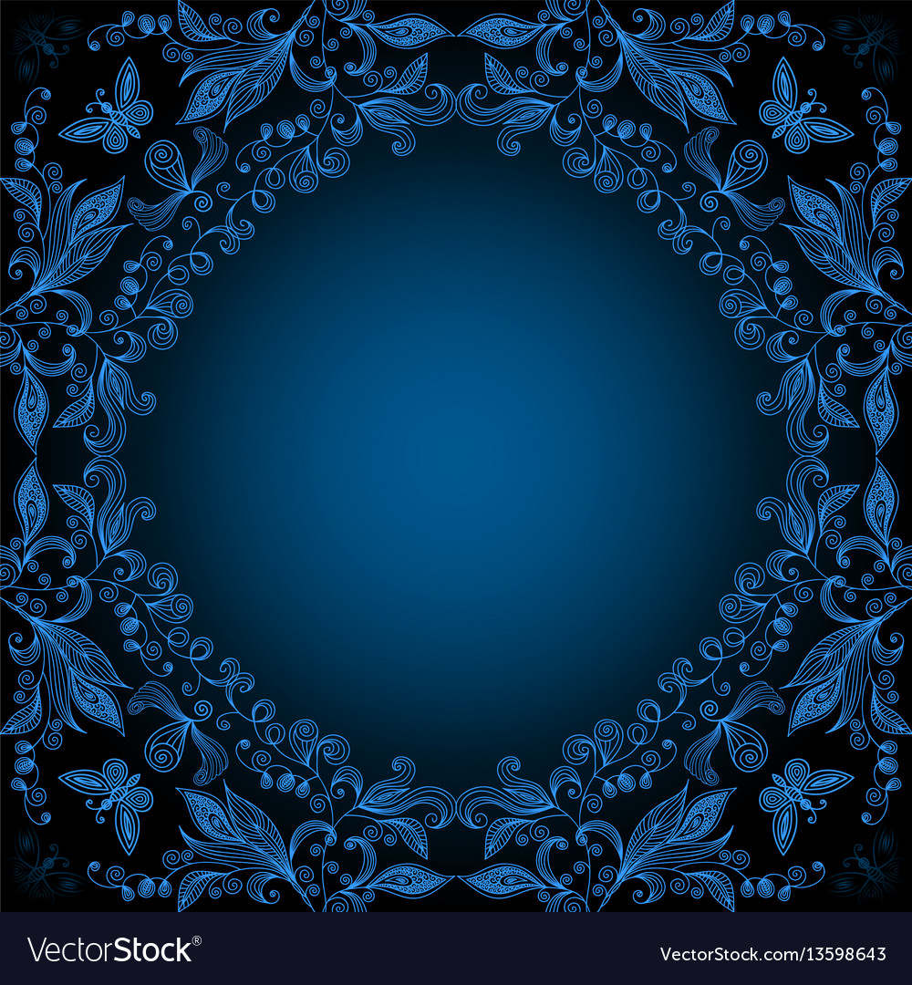 Abstract floral lacy background