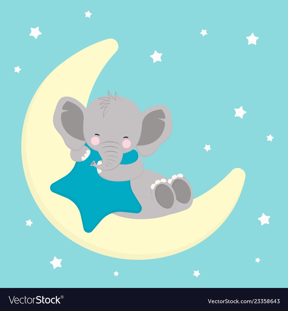 Elephant sleep on moon