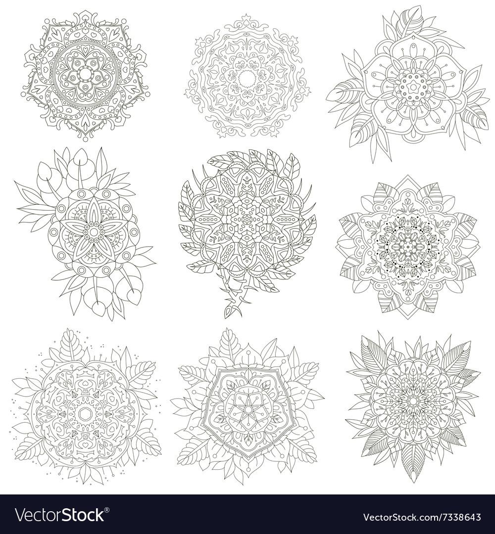 Flowers anti-stress vector image