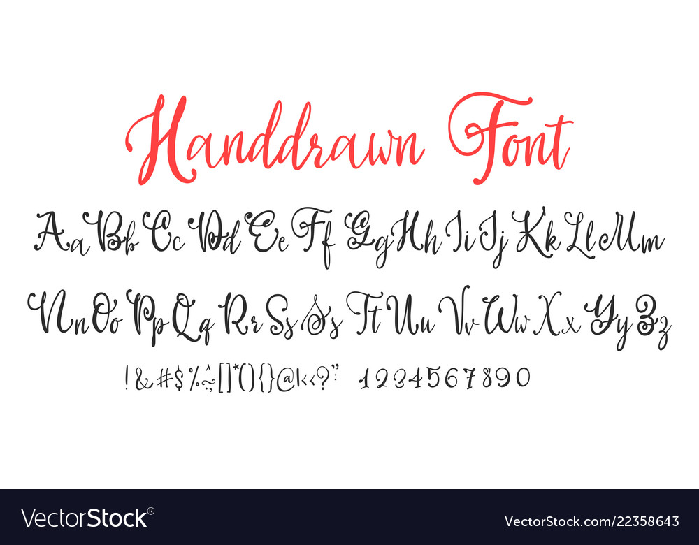 The vintage calligraphy fonts