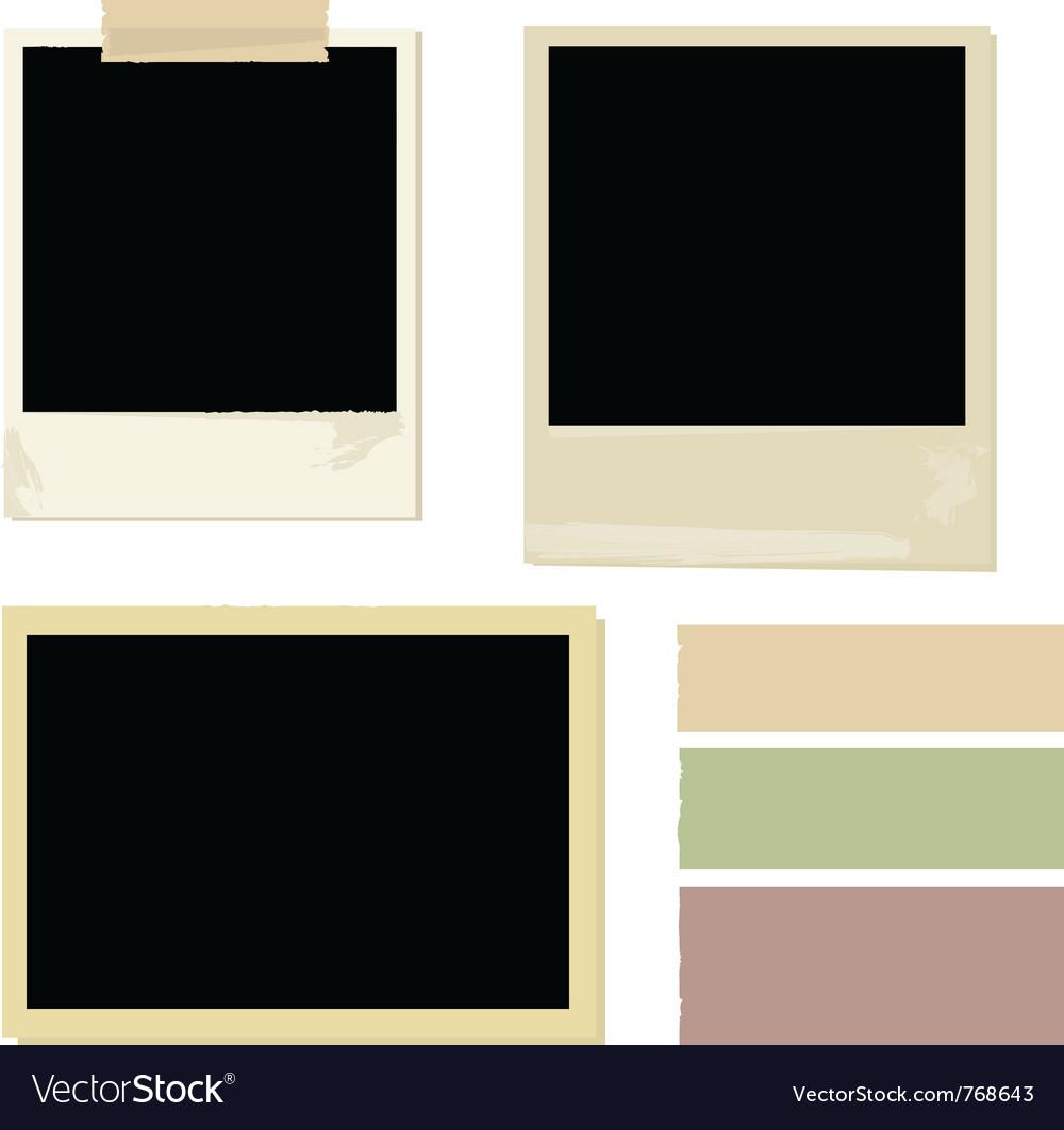 Photo set vector image