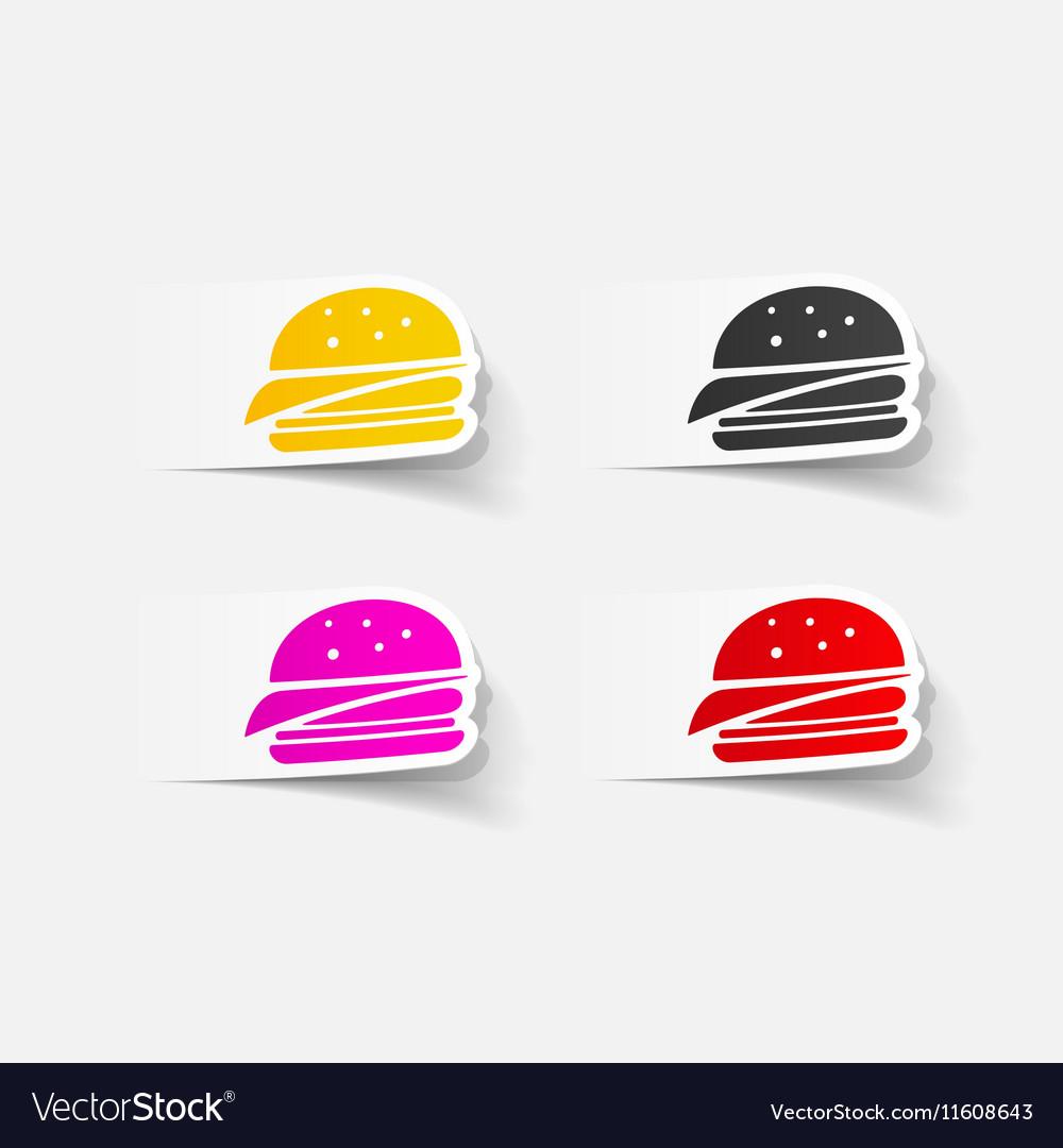 Realistic design element sandwich