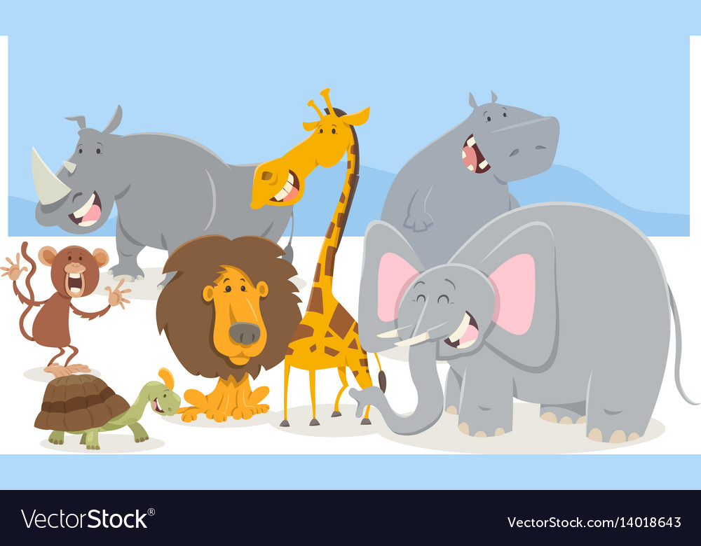 Safari animal characters group