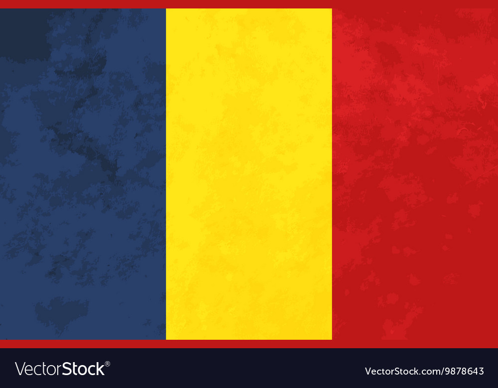 True proportions Romania flag with texture