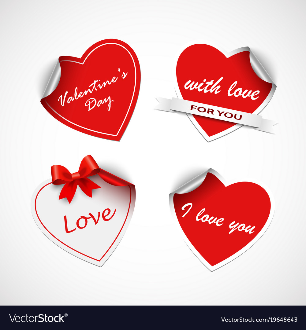photograph regarding Valentine Stickers Printable known as Valentine crimson middle stickers template