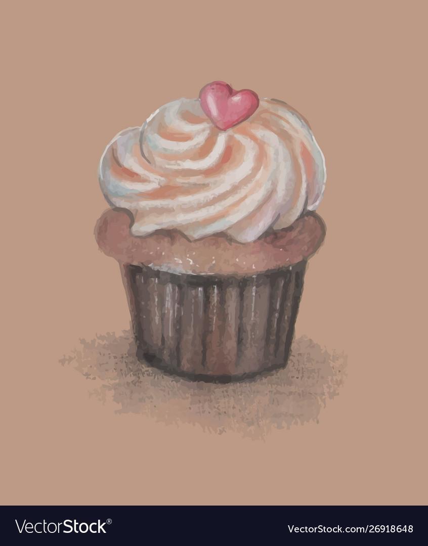 A cupcake stylized hand