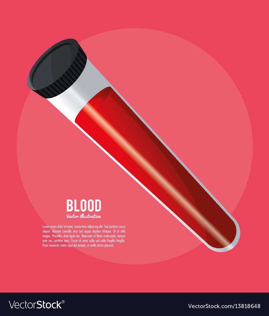 Blood test tube laboratory