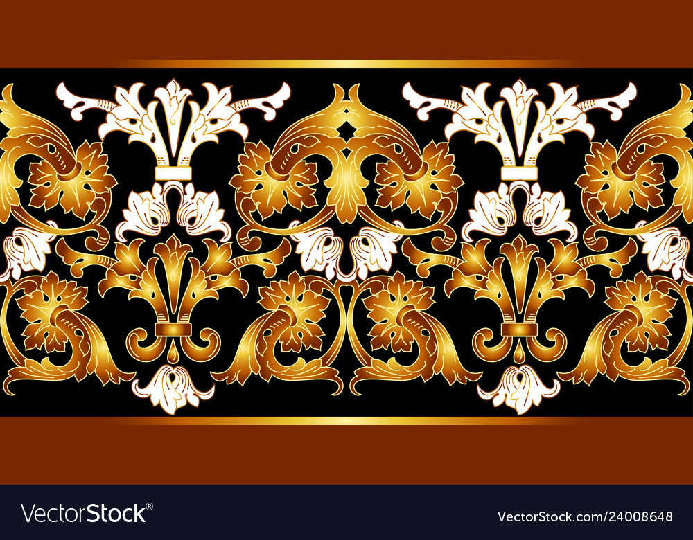 Border with golden elements golden