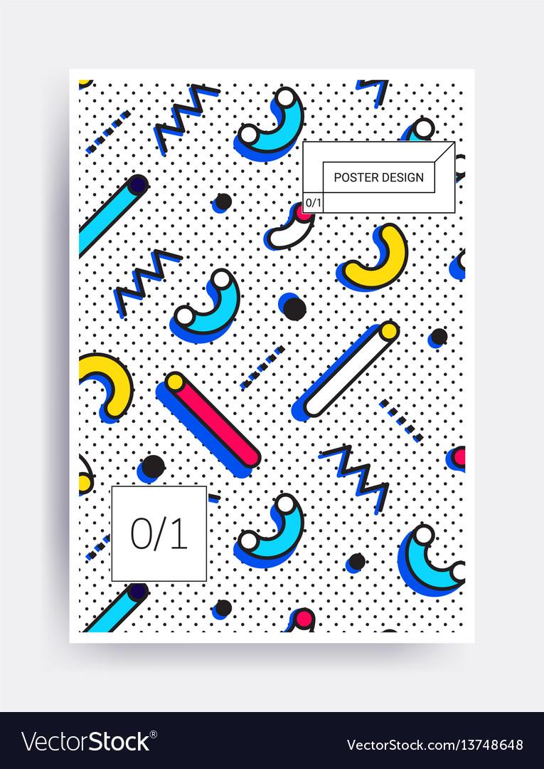 Bright design poster