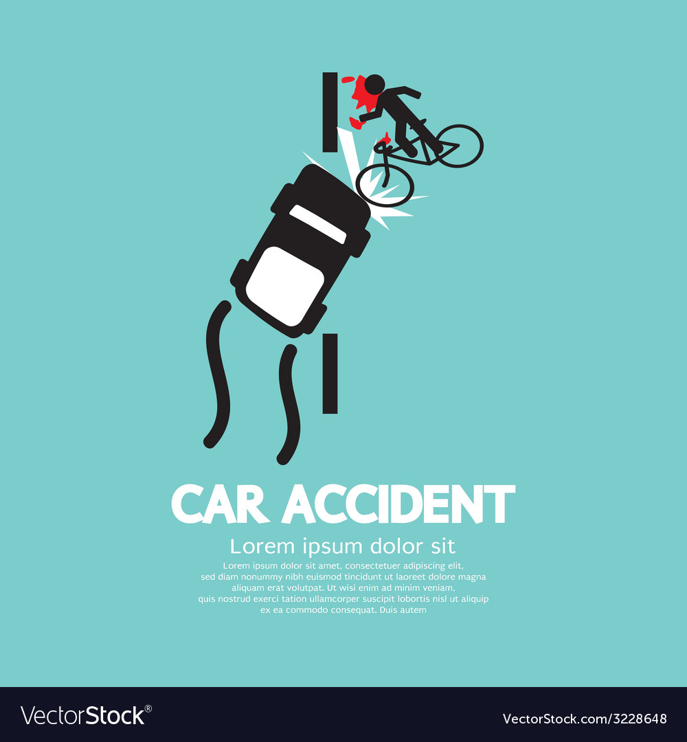 Car Accident With Bicycle