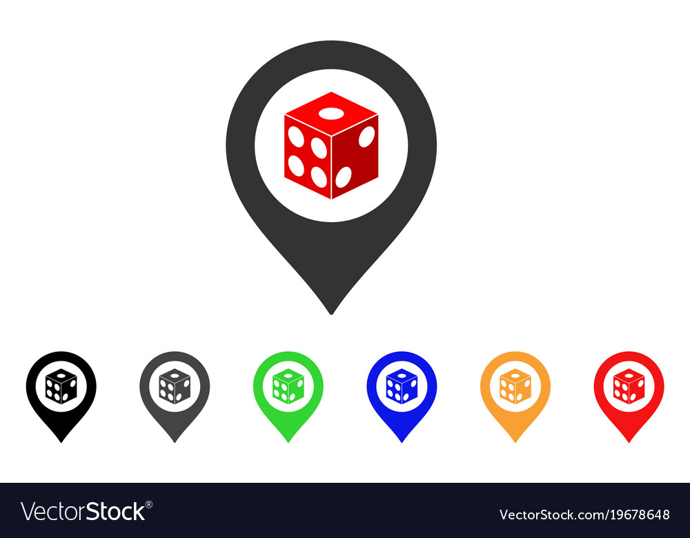 Dice map pointer icon