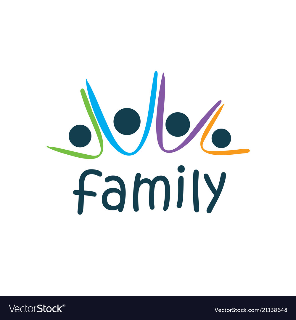 Family Logo Royalty Free Vector Image Vectorstock