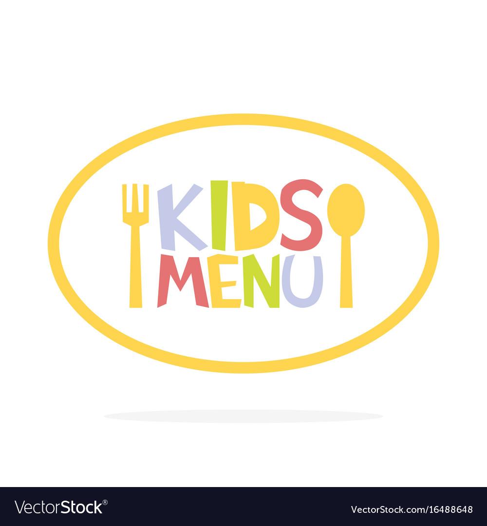 Kids menu ellipse label template