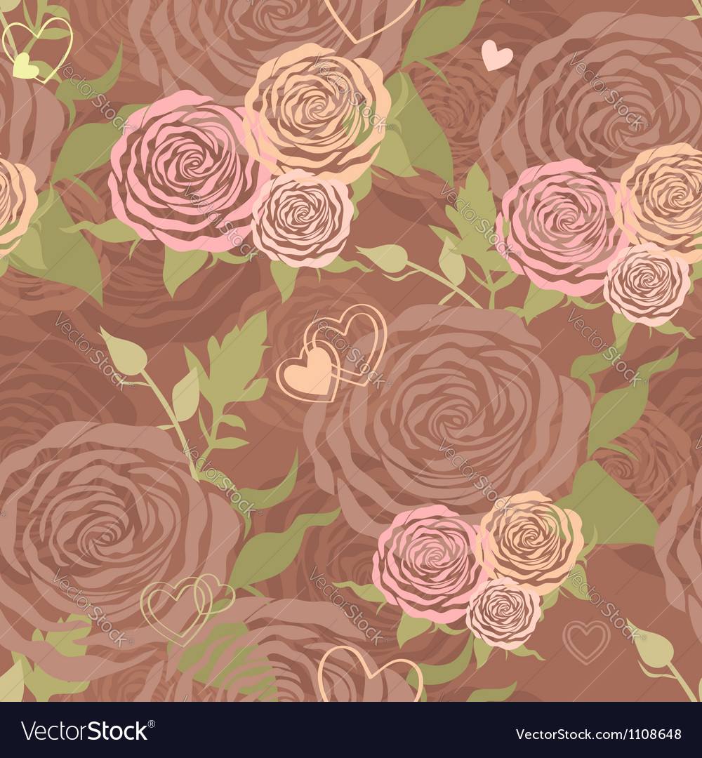 Pastel Valentines Day floral seamless pattern