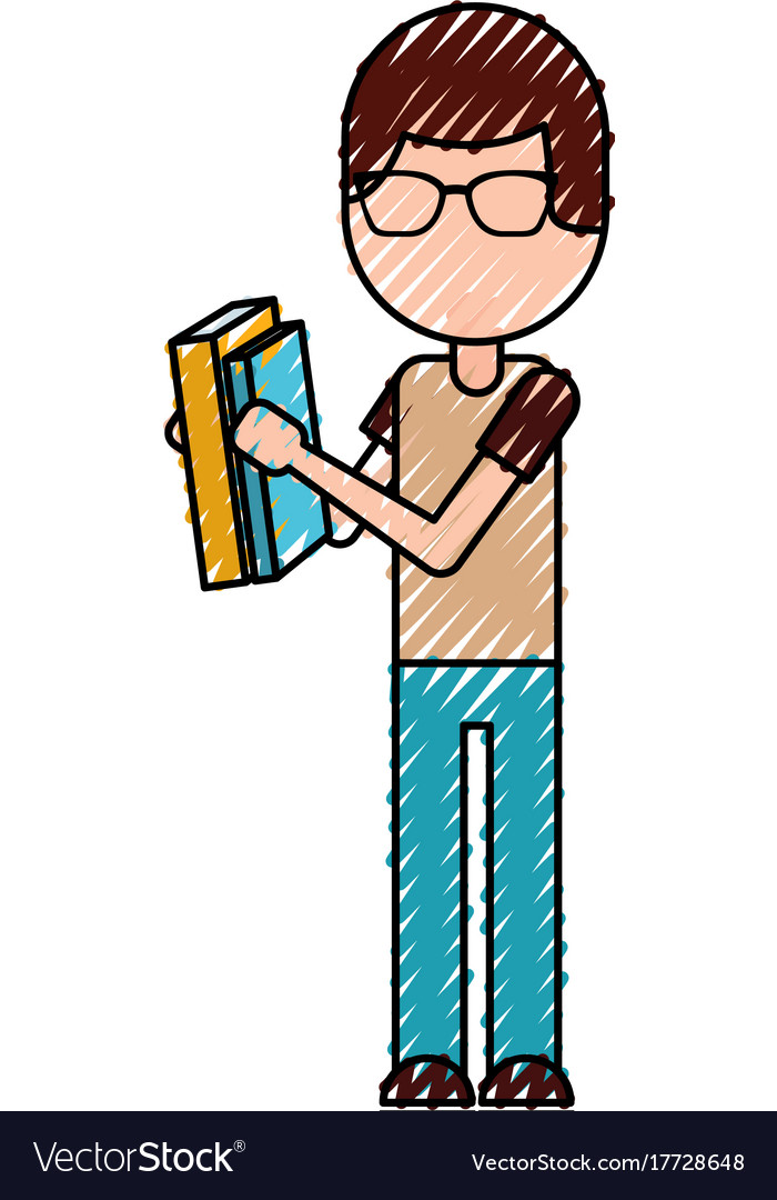 School boy holding book knowledge learn study