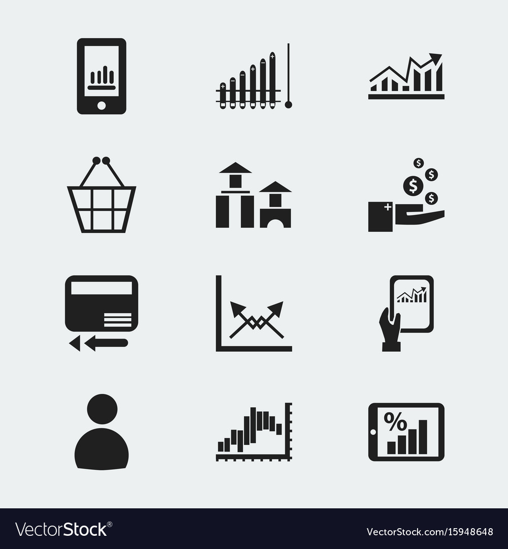 Set of 12 editable logical icons includes symbols