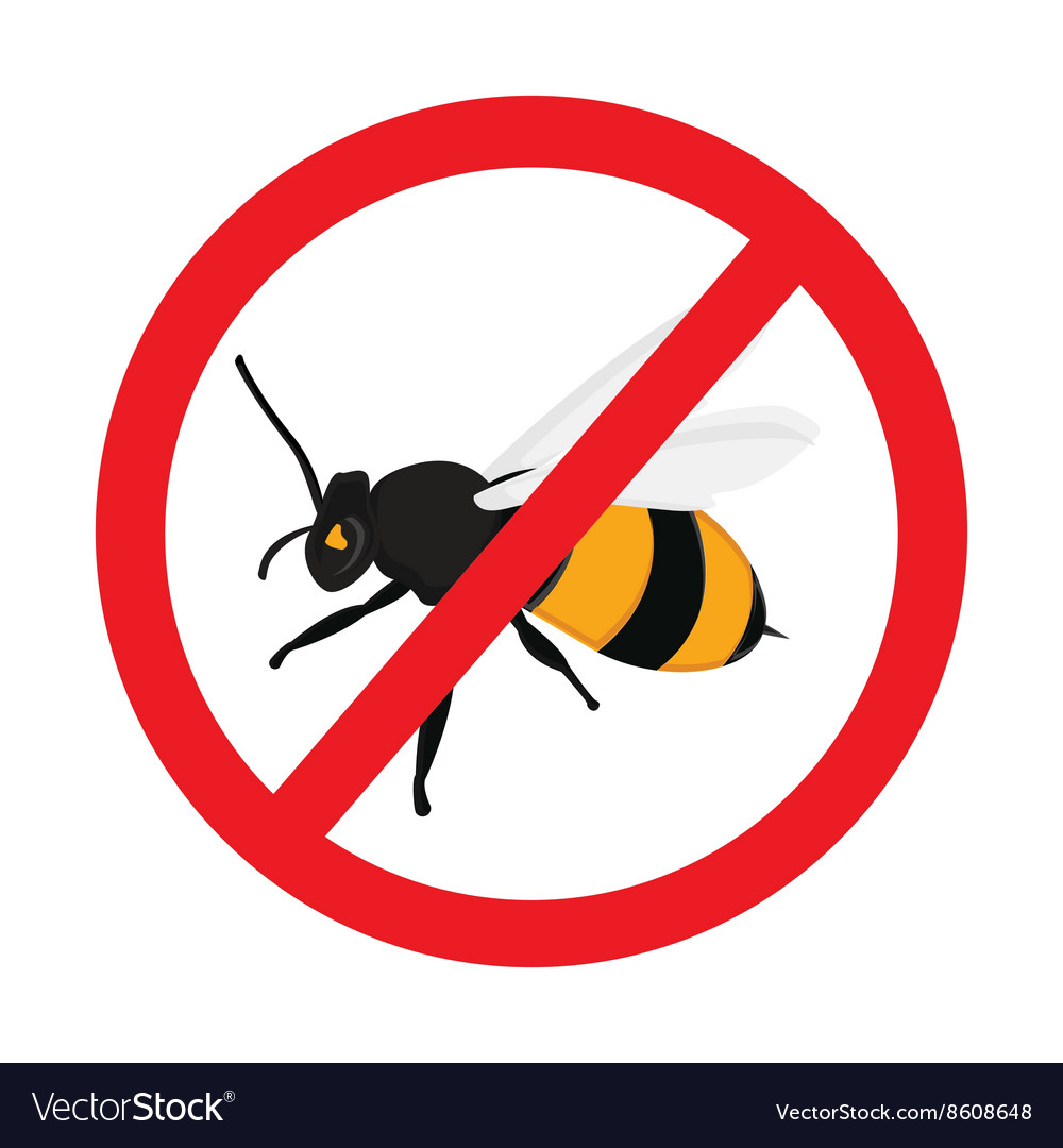 Warning sign bee