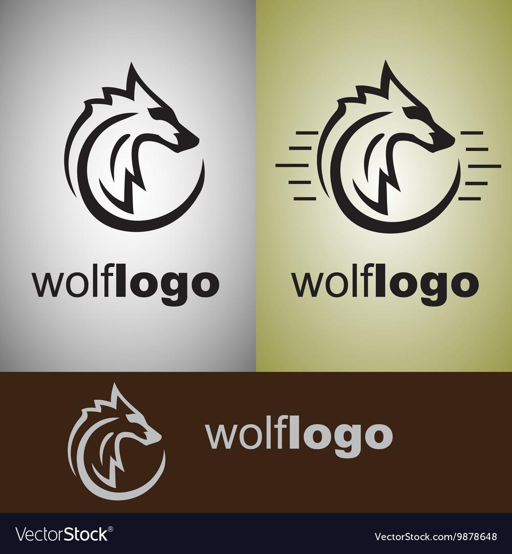 Wolf logo vector image