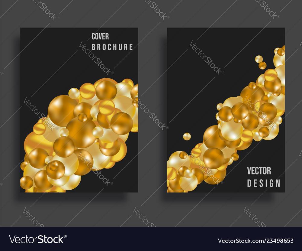 Abstract cover design gradient golden balls