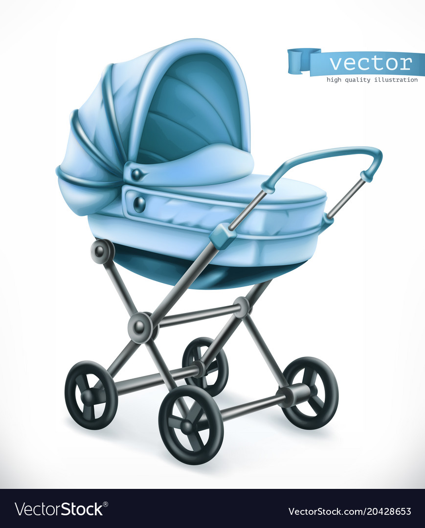 Bacarriage stroller 3d icon