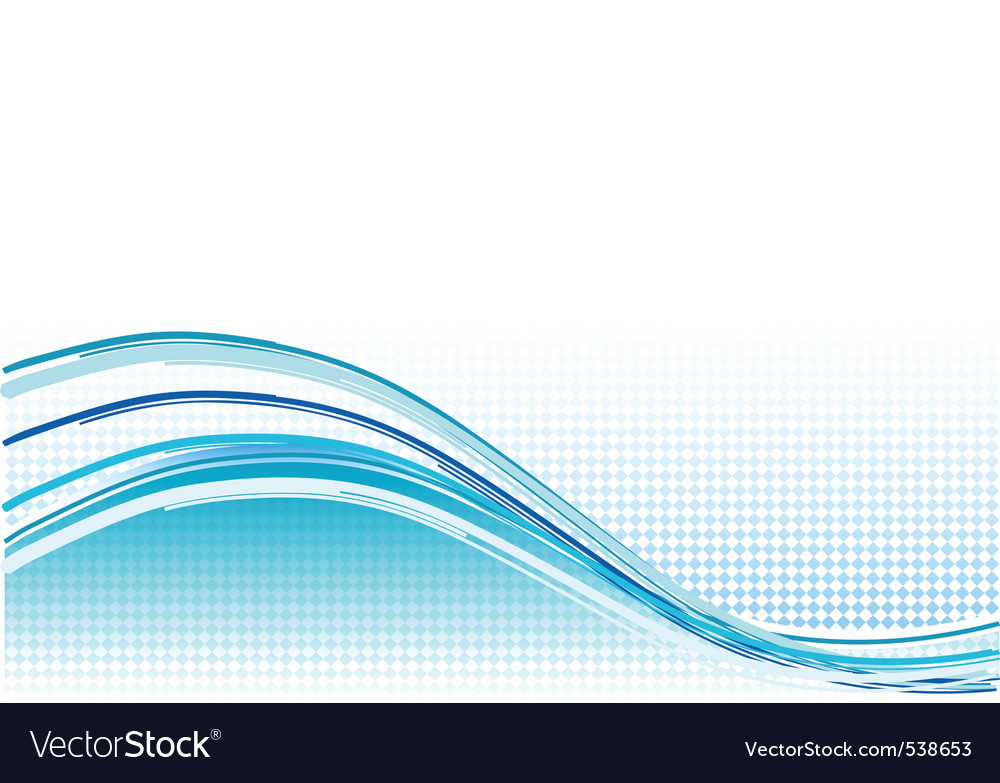 Vector Drawing Lines Quotes : Blue wave background with lines royalty free vector image
