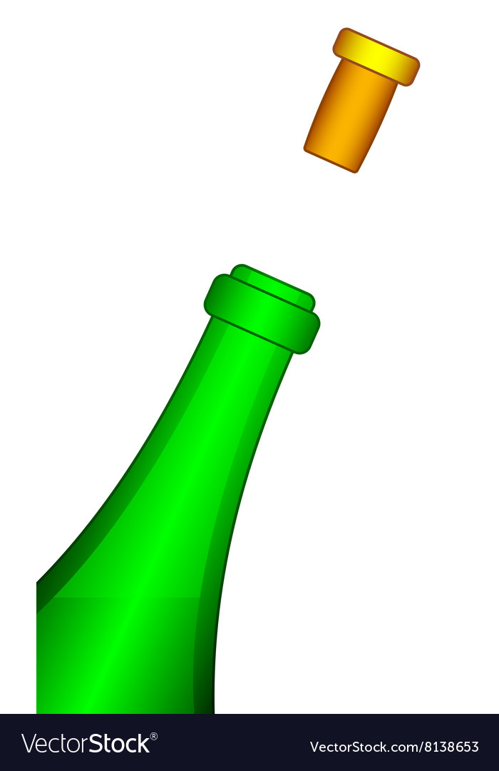 Bottle and cork vector image