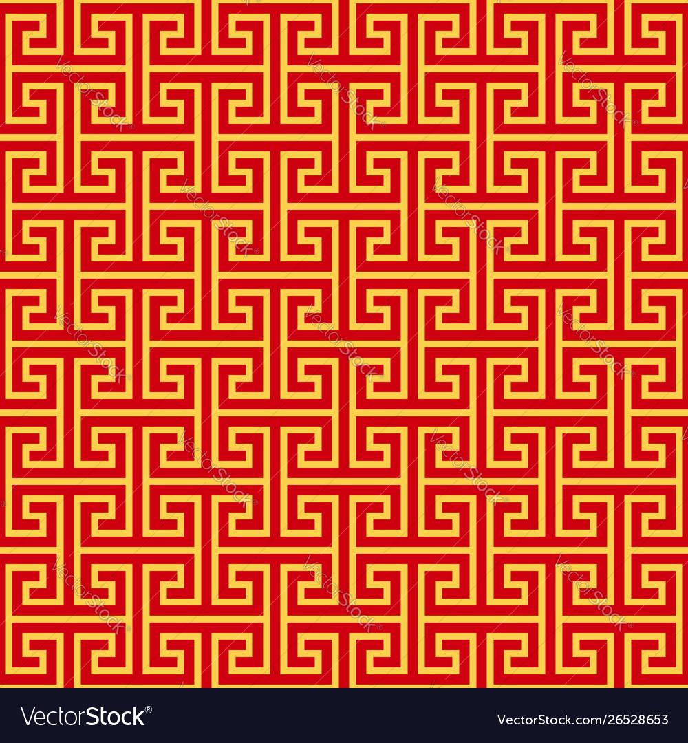 Chinese geometric seamless pattern