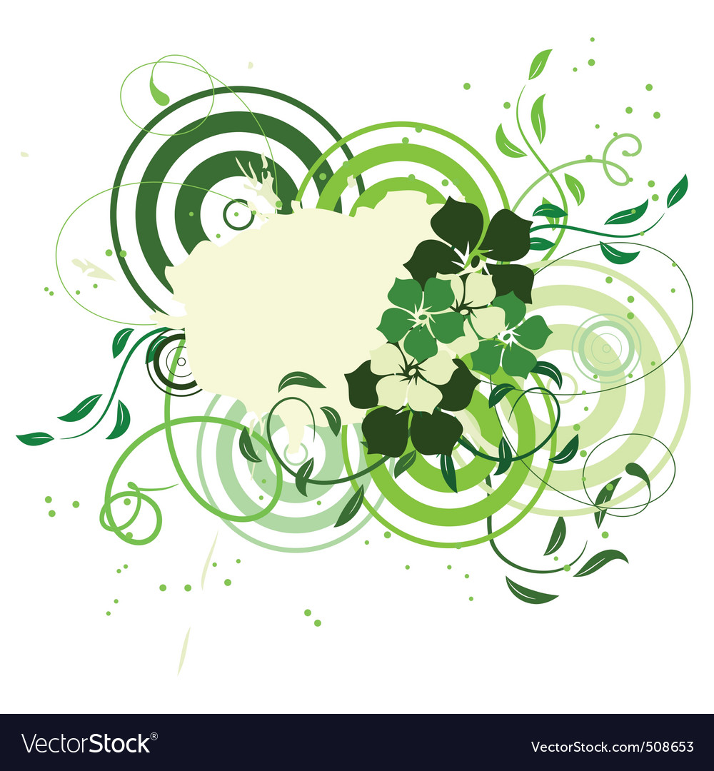 Floral collage vector image