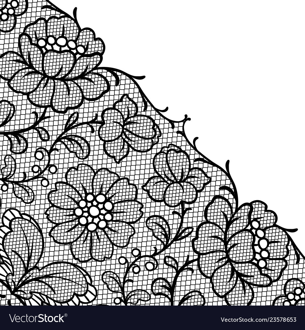 Lace ornamental background with flowers
