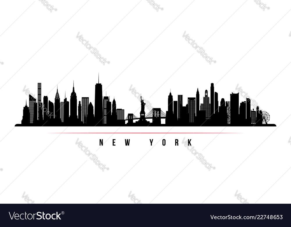 New york city skyline horizontal banner