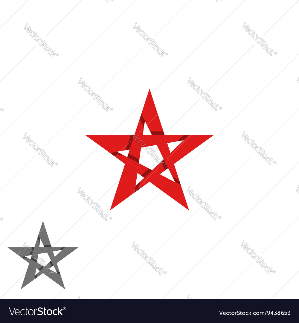 Star logo isolated graphic design decoration