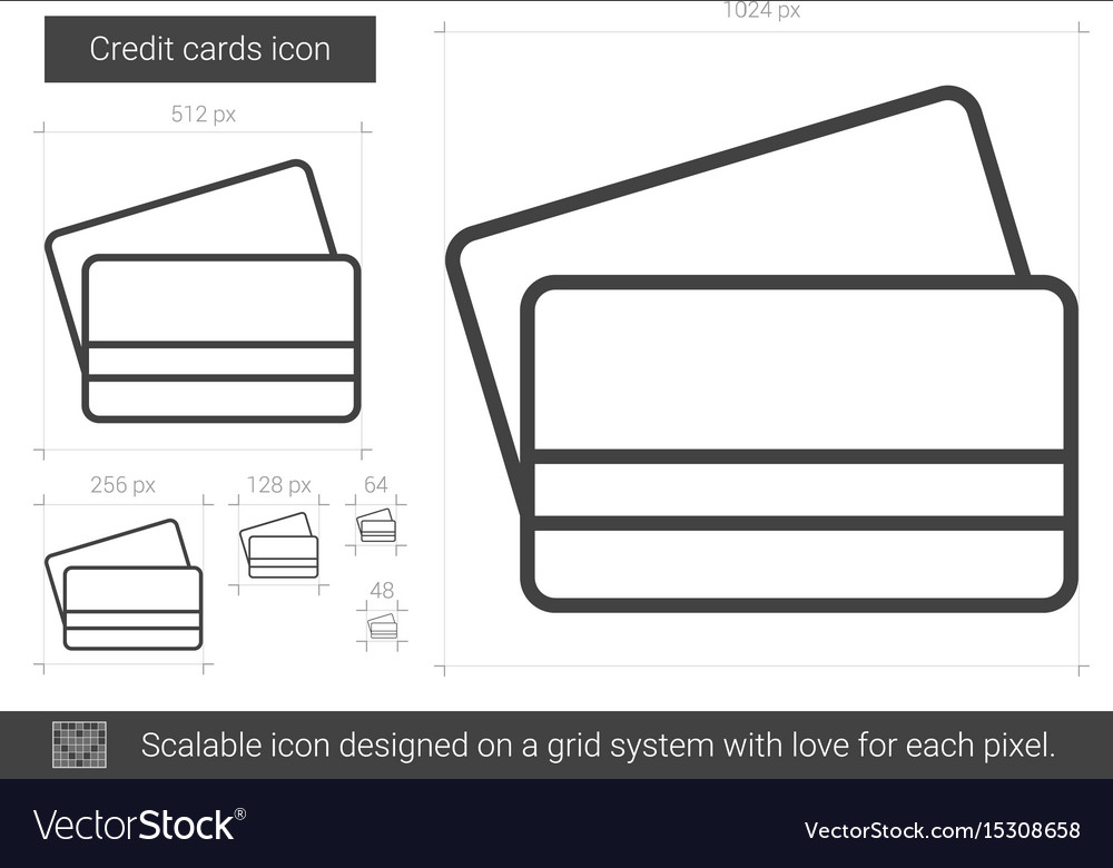 Credit cards line icon