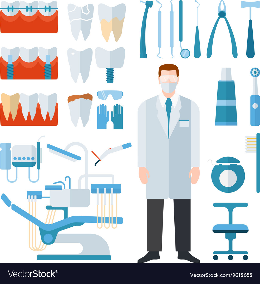 Dentist symbols set