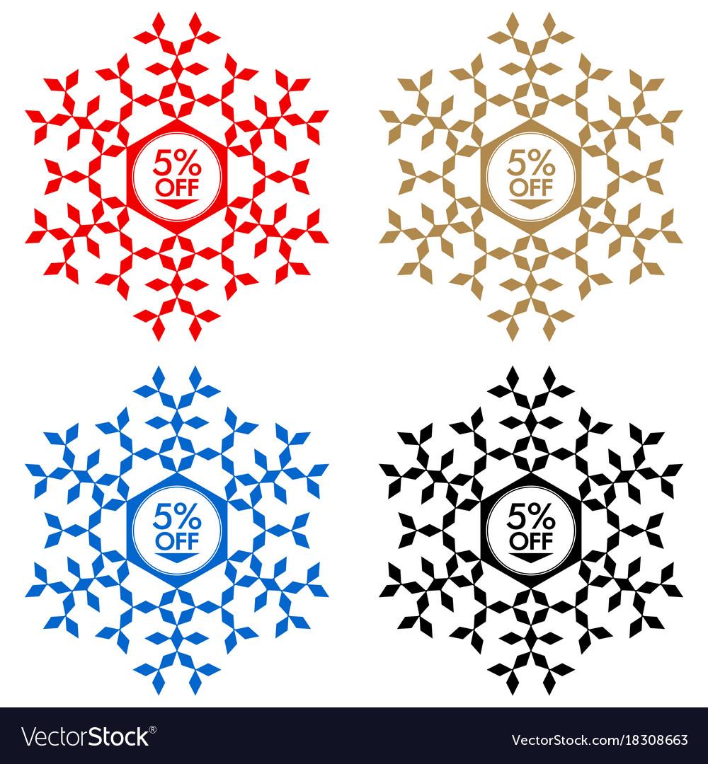 55 off discount sticker snowflake 55 off sale