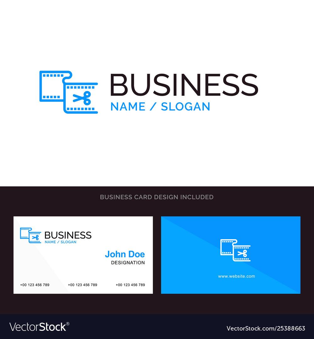 Clip cut edit editing movie blue business logo