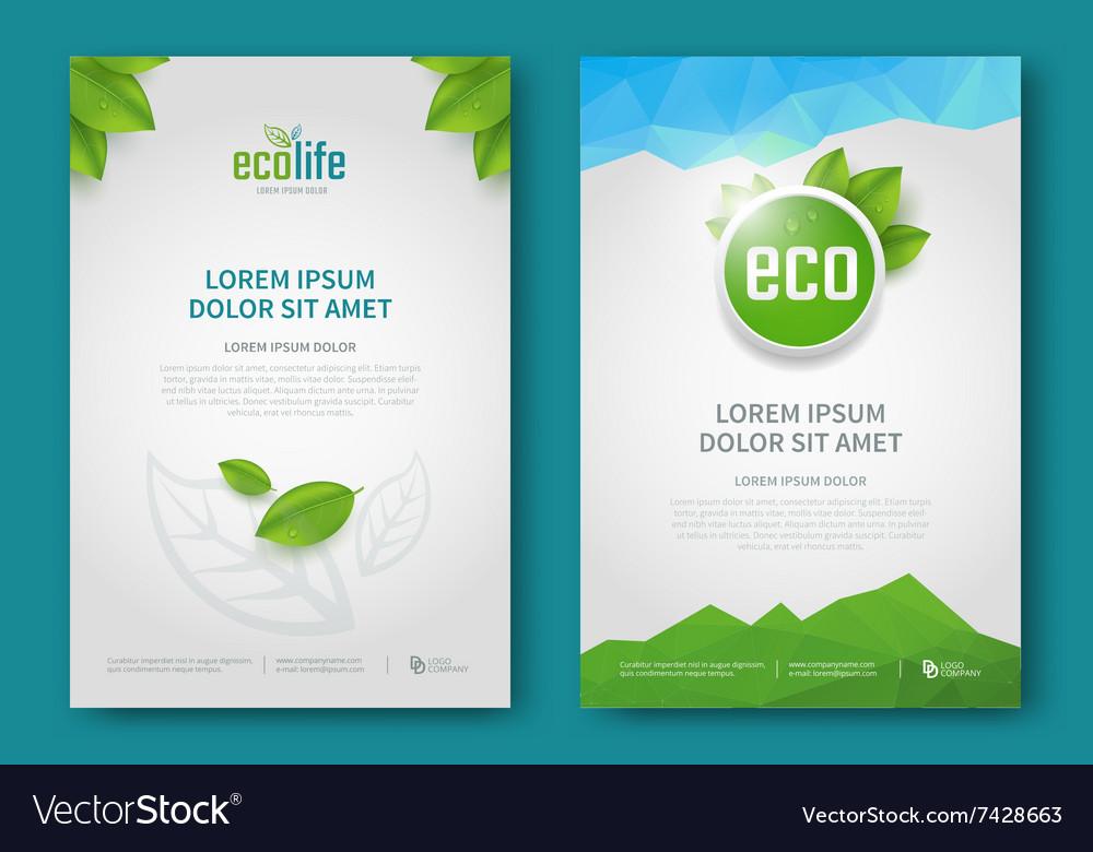 Eco brochure design