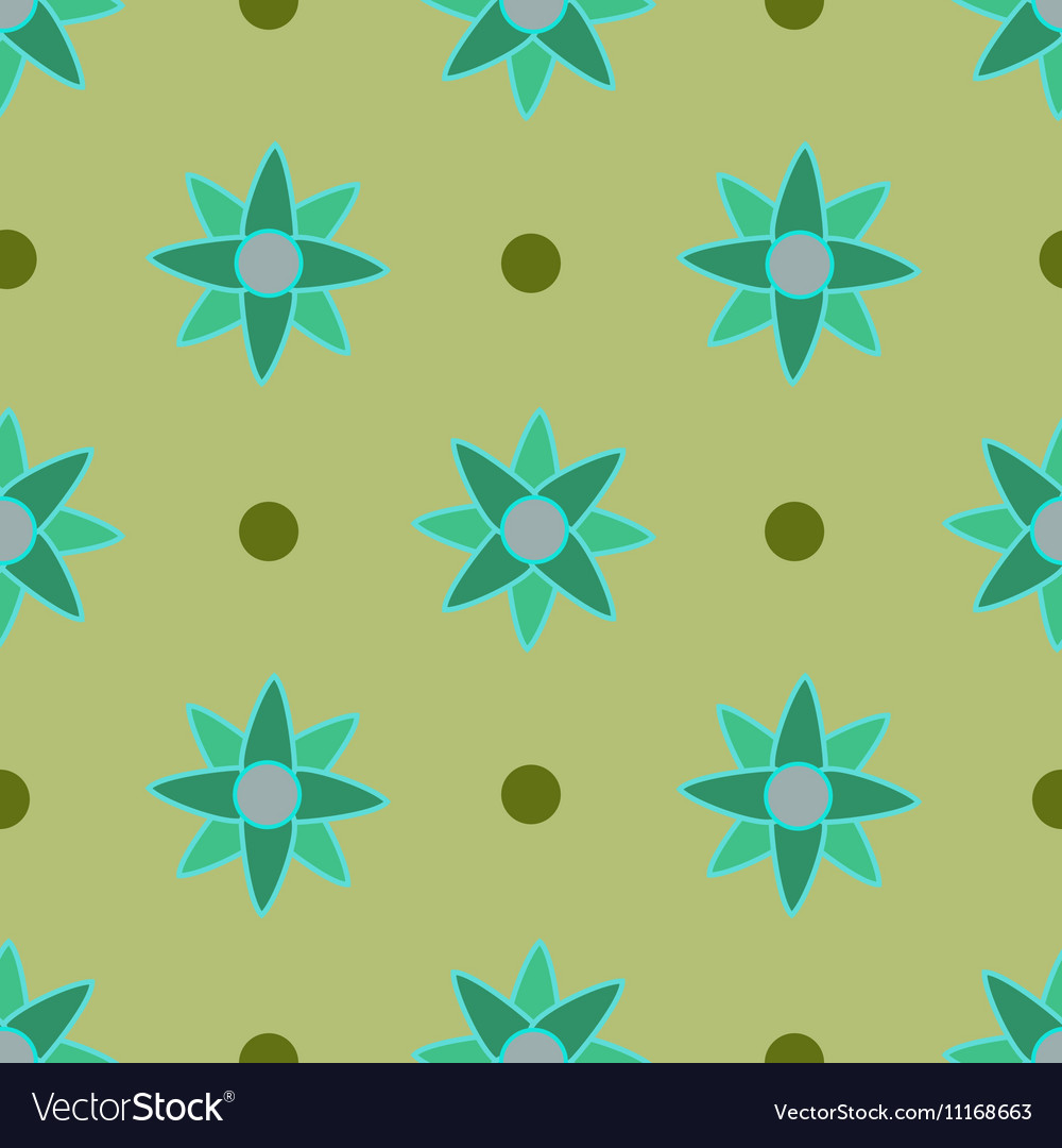 Flower seamless pattern 4 vector image