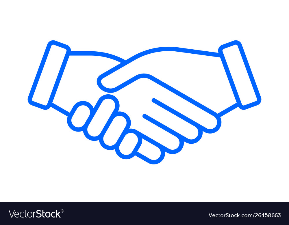 Hand shake icon business partnership deal