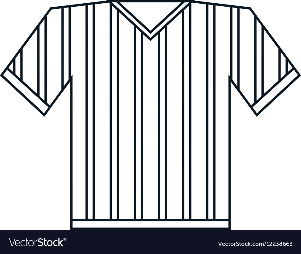 Jersey referee american football outline
