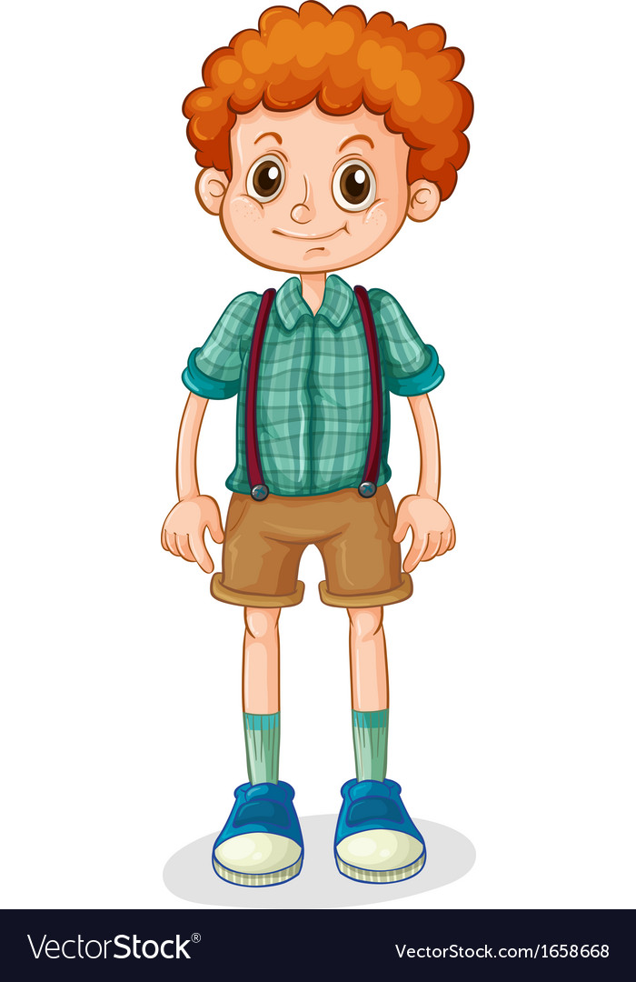A Young Boy With A Curly Hair Royalty Free Vector Image