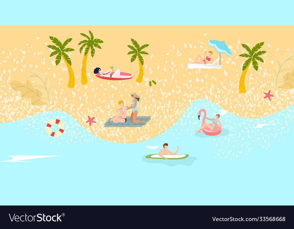 Composition beach tourism summer vacation
