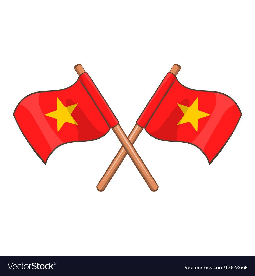 Flag of Vietnam icon cartoon style