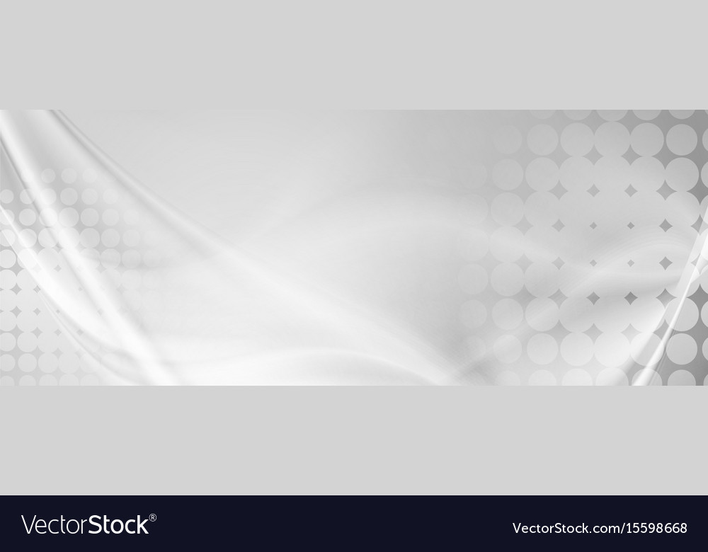 Light grey abstract wavy grunge banner