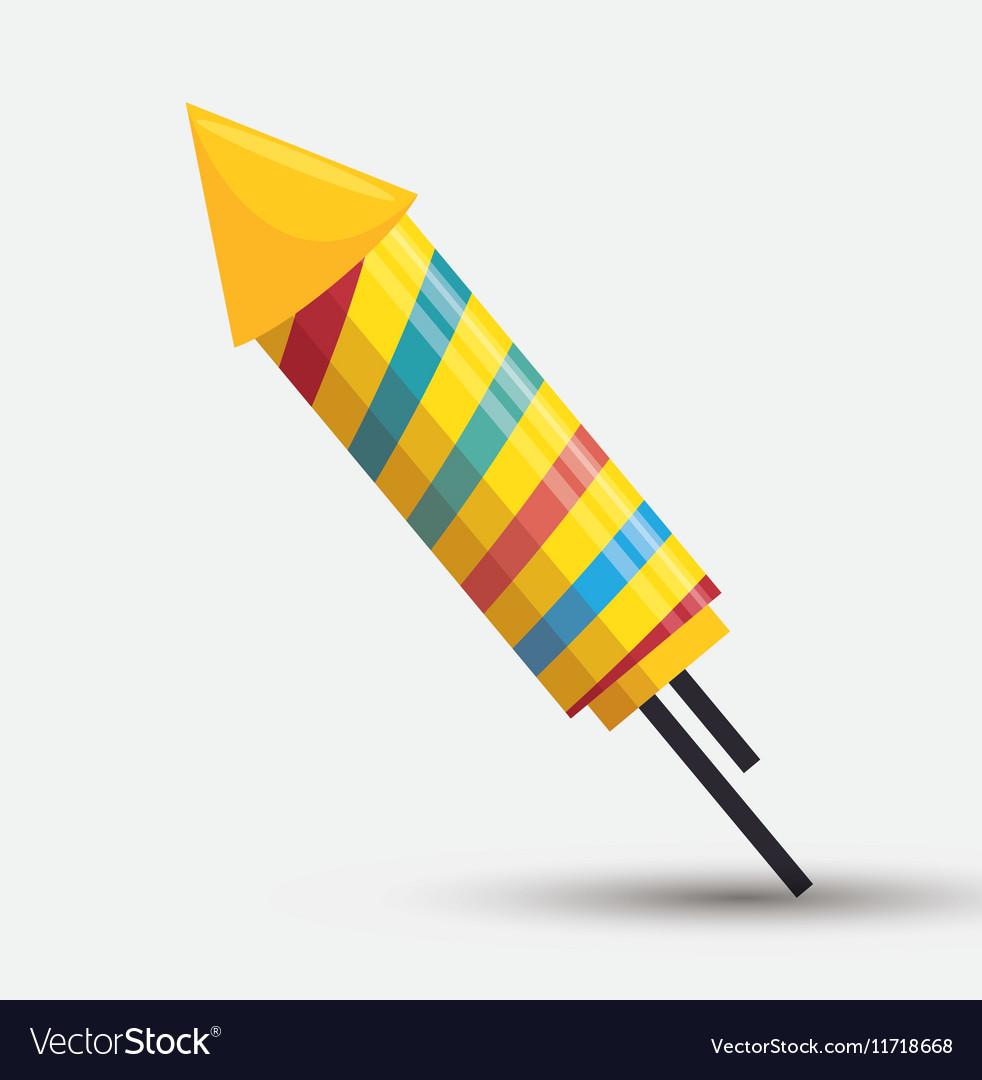 Rocket fireworks rainbows color