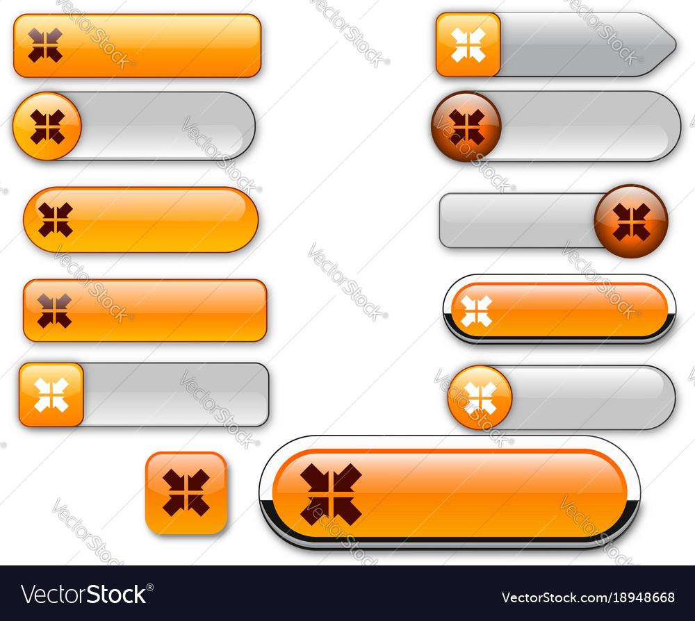 Web buttons orange vector image