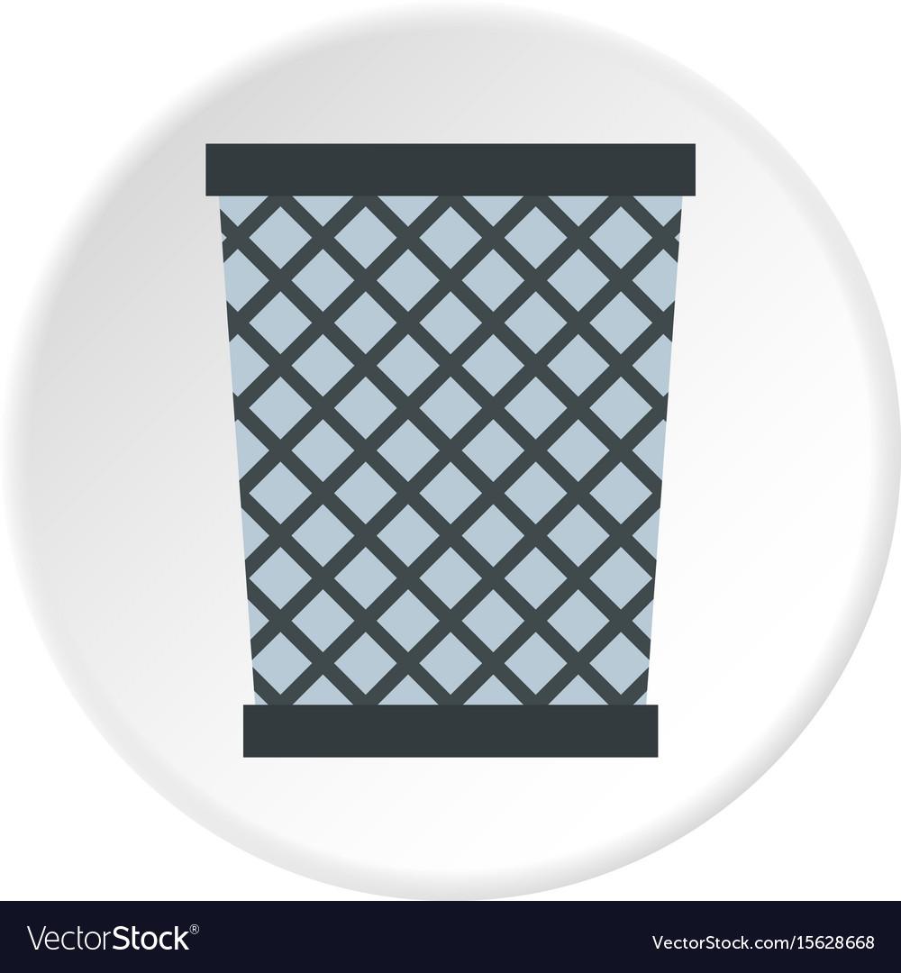 Wire metal bin icon circle Royalty Free Vector Image