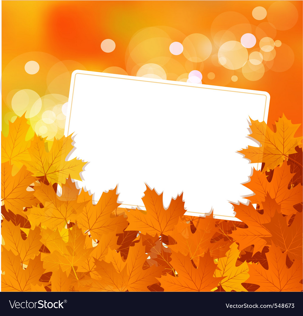autumn background royalty free vector image vectorstock