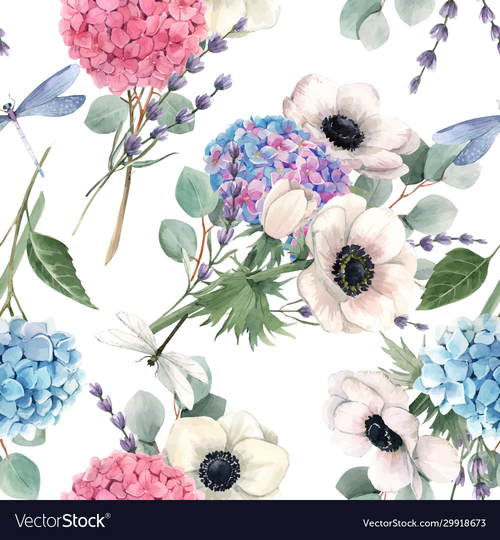 Beautiful seamless pattern with watercolor
